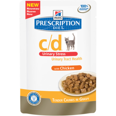 Hills PD Feline c/d  Urinary Stress Chicken пауч с пилешко - 85 гр - 2862U