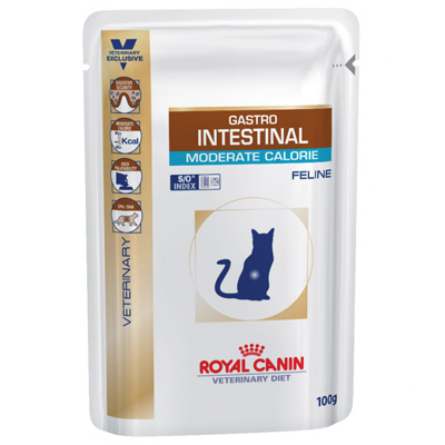 Royal Canin Gastro Intestinal Moderate Calorie Cat - 100 гр пауч - XF071