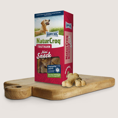 3296 - Happy Dog Natur Snack Mini с пуешко месо, за малки породи, 350гр